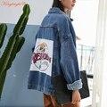 King bright Brand New 2016 oversized denim jacket spring jaqueta jeans casacos femininos women coat denim jacket retro For Girls
