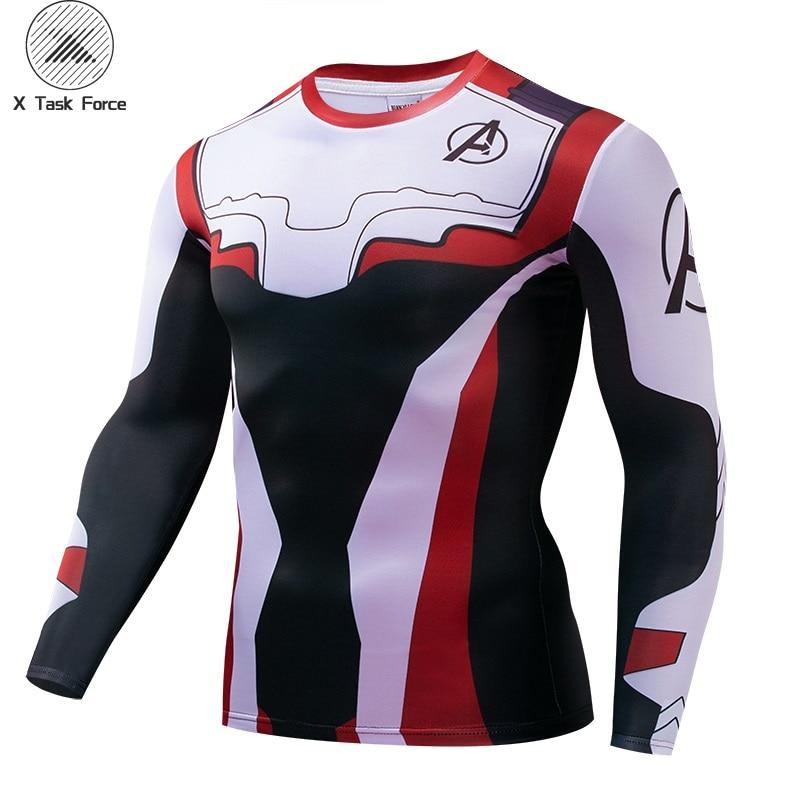 Men T Shirt 2019 Avengers 4 Tshirt Infinity Symbol T-shirt 3D Metal Marvel Tops Captain Tees Fashion Superhero Clothes S-4XL