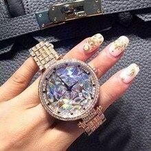 Высокое Качество Роскошный Наручные Часы Кристалл Платье Золотые Часы Женщины дамы Кварцевые Часы Relogio Feminino relojes mujer 2016