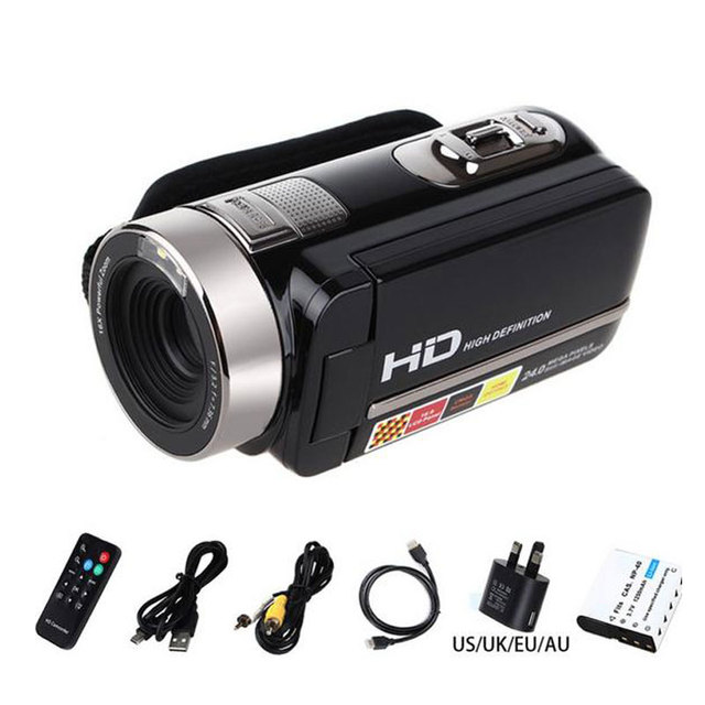 "Portable Digital Video Camera Camcorder Full HD 1080P 24MP DV DVR 3""TFT LCD 16X ZOOM IR Night Shot/Remote Control HDV-301STR"
