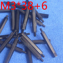 M3*38+6 1 pcs Black Nylon Standoff Spacer Standard M3 Male-Female 38mm Kit Repair Set High Quality