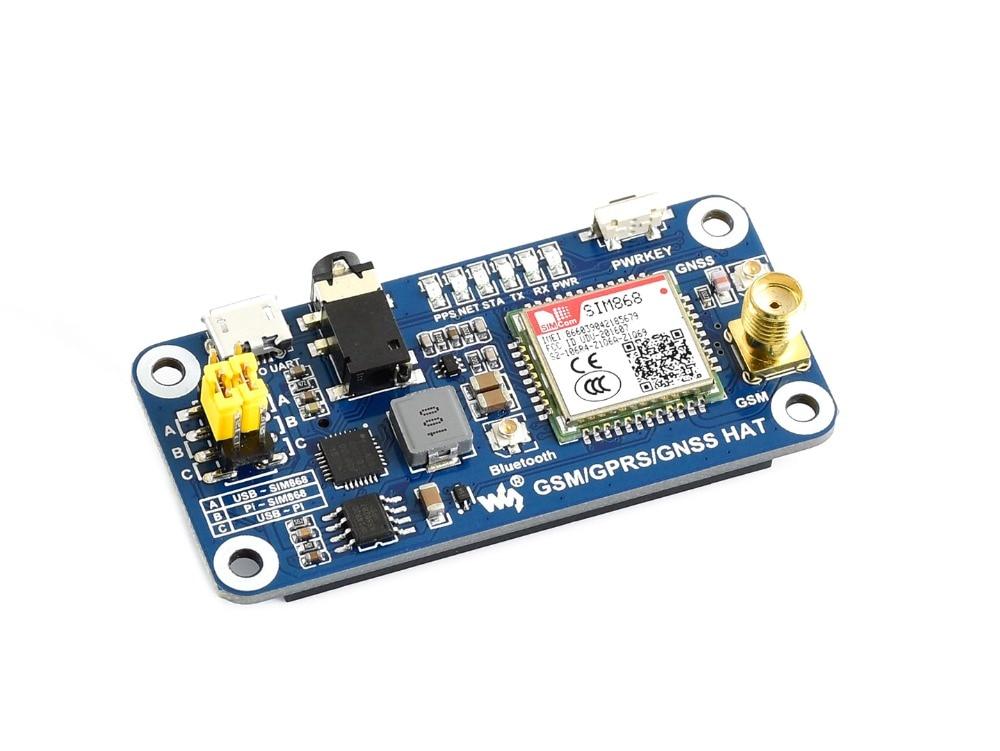 Waveshare GSM GPRS GNSS Bluetooth 3 0 HAT for 2B 3B 3B Zero Zero W Support