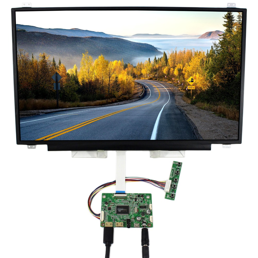 HDMI Mini LCD Controller Board With 17.3inch 1920x1080 N173HCE-E31 LP173WF4 LCD Screen