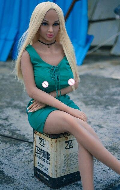 73#158cm Full Size Men's Realistic Sex Doll Lifelike Europe Blond Green Eyes LOVE Doll Full Skeleton And TPE