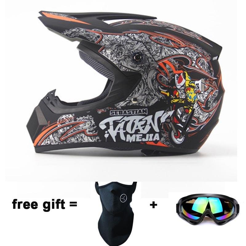 Детская мотоциклетная шлемы Велоспорт Мотокросс горные безопасности шлем Off Road мотоциклов взрослых Мотокросс шлем