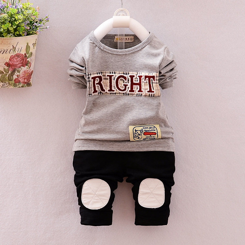Baby s Clothing Set Sweatshirts Pants 9 to 24M Colorful Right Soft Cotton Spring Autumn Boys