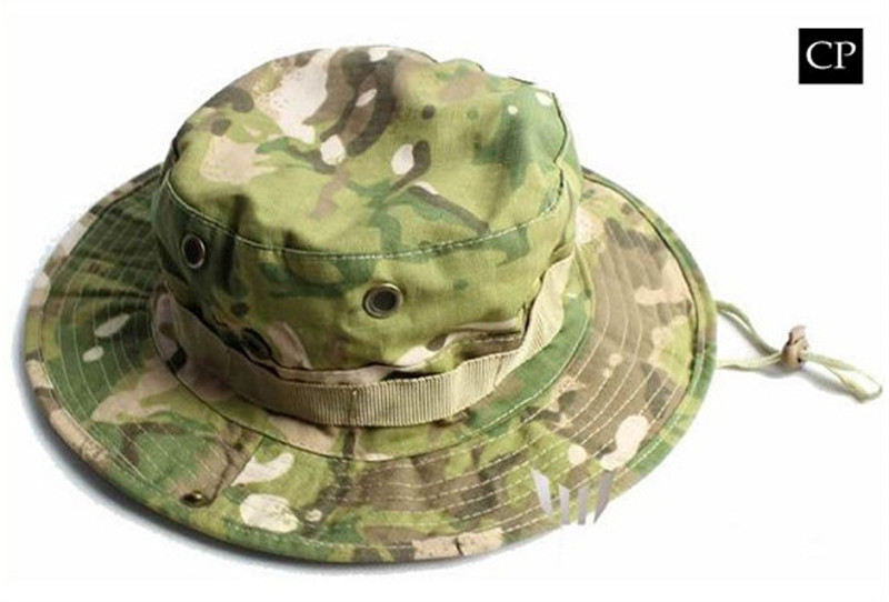 c3d070311e2 Outdoor Hiking Fishing Hat Camouflage Bucket Hat Fisherman Camo Jungle Bush  Hats Boonie UV Protection Wide Brim Ripstop Sun Cap-in Hiking Caps from  Sports ...
