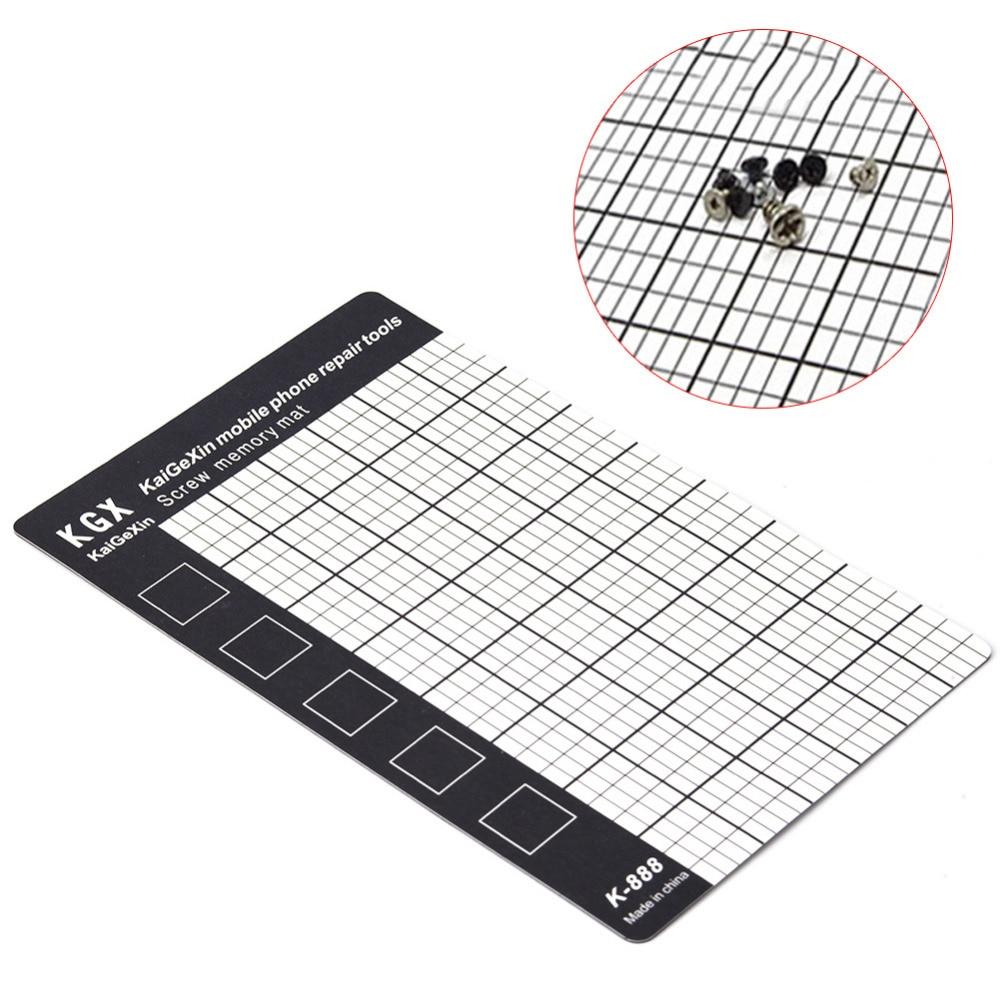 1pc magnetic screw mat memory chart work pad mobile phone repair tools palm size