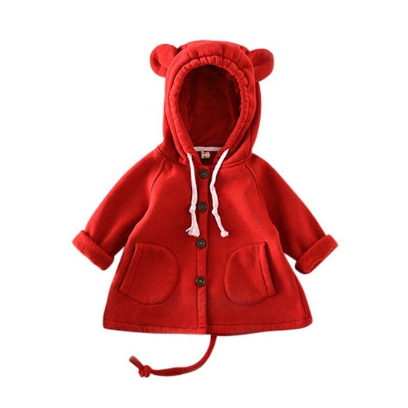 Ins quente dos desenhos animados grandes orelhas crianças jaqueta de algodão camisola adorável outono inverno quente crianças roupas do bebê topos menina nova