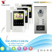 YobangSecurity 4 3 Inch Color Video Door Phone Doorbell Camera Entry Intercom System RFID Access Control