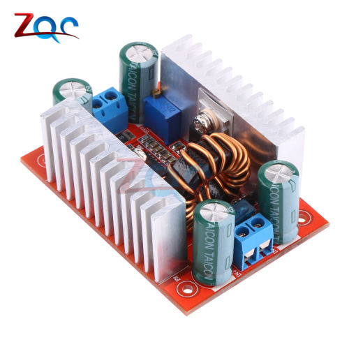 400W 15A DC-DC Boost Converter Step Up Power Transformer Supply Voltage Regulator Constant Power Heat Sink 8.5V-<font><b>50V</b></font> to <font><b>10</b></font>-60V image