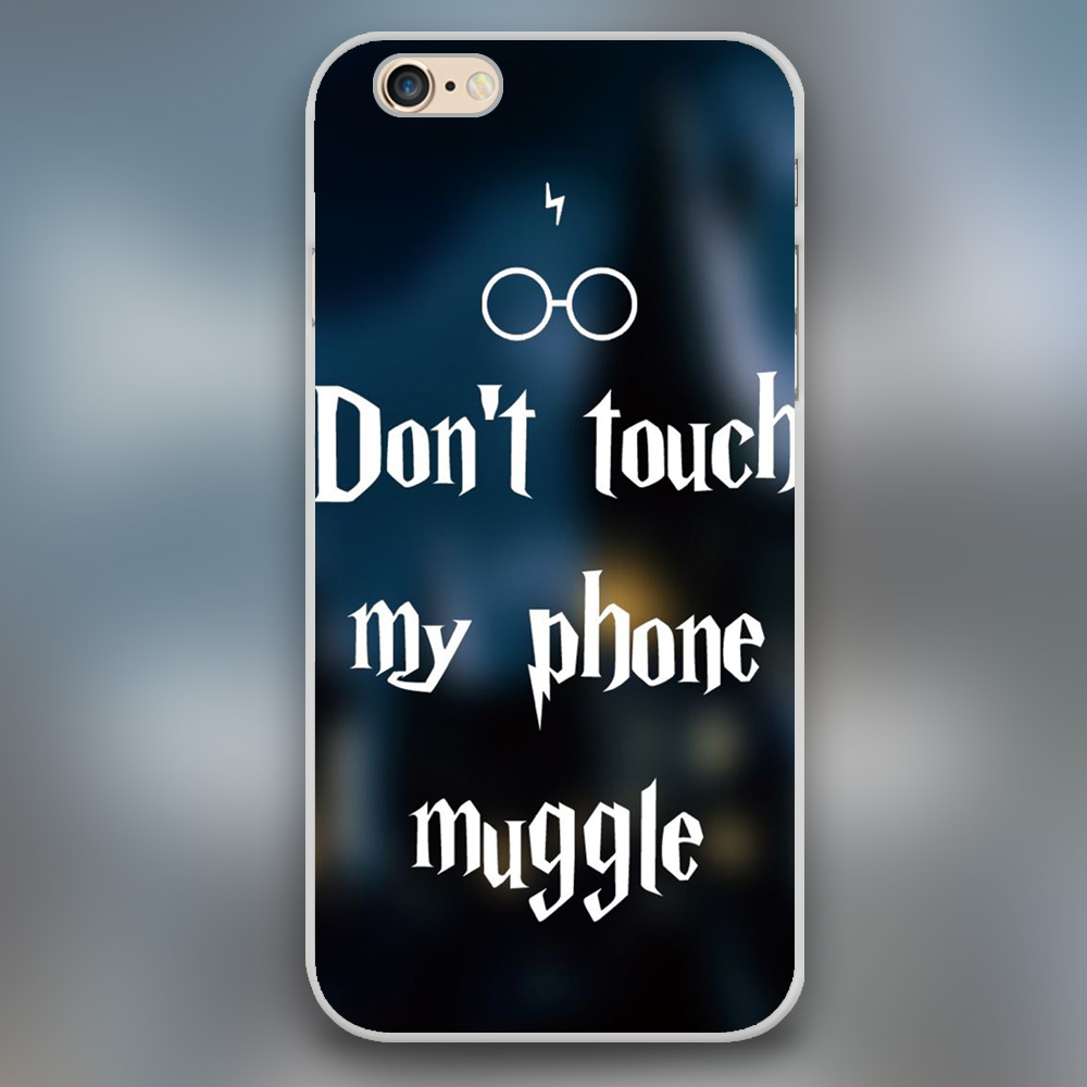Country Quotes Phone Wallpaper Don T Touch My Phone Muggle Harry Potter Design Black Skin