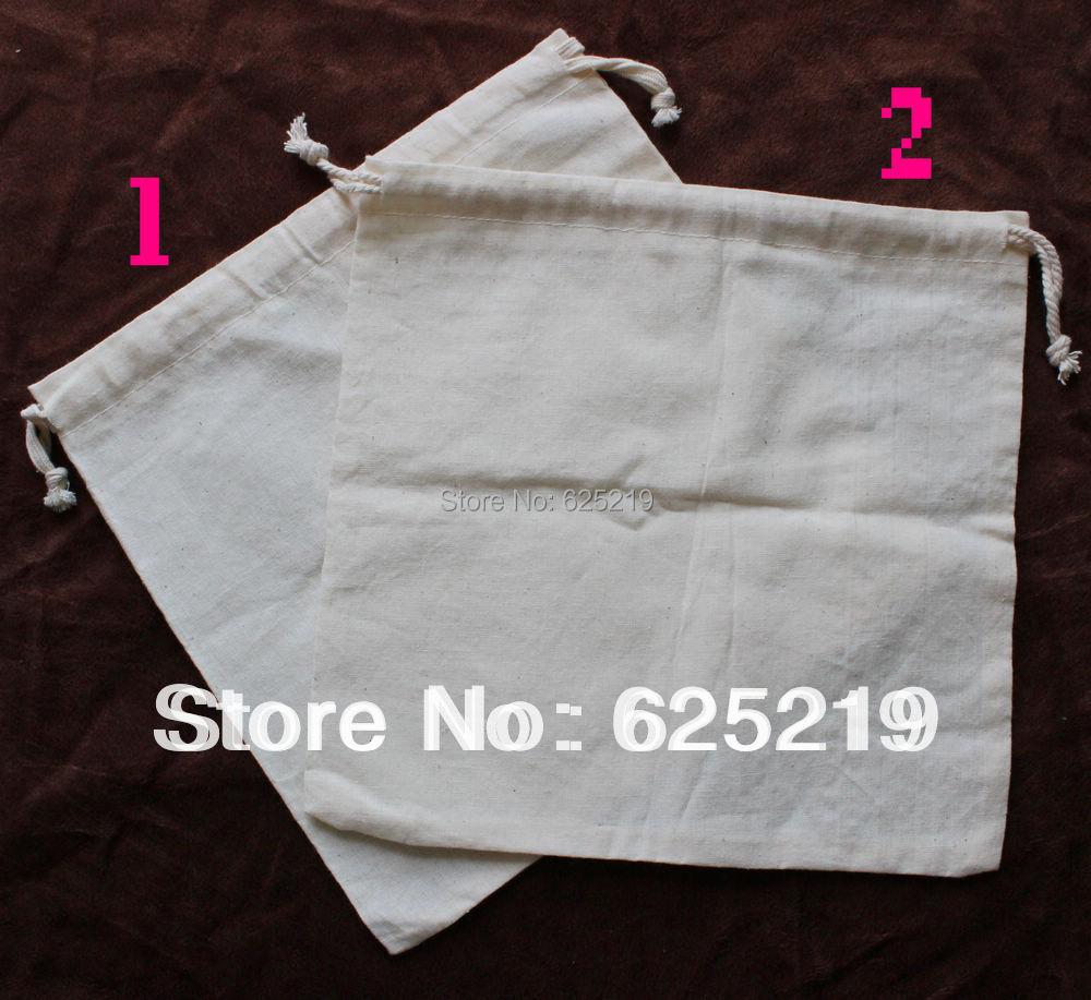 140g/m2 coton (50 pcs/lot) 25*25 cm/10*10 pouces sac en coton biologique naturel cordon peut personnaliser le logo et la taille-in Sacs-cadeaux et emballages from Maison & Animalerie    1