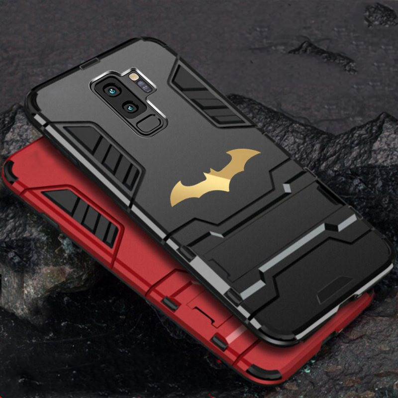 quality design bc77b 4cc34 Details about Matte For Samsung Galaxy S10+ S9 Note 9 Batman Case Armor  Shockproof Stand Cover