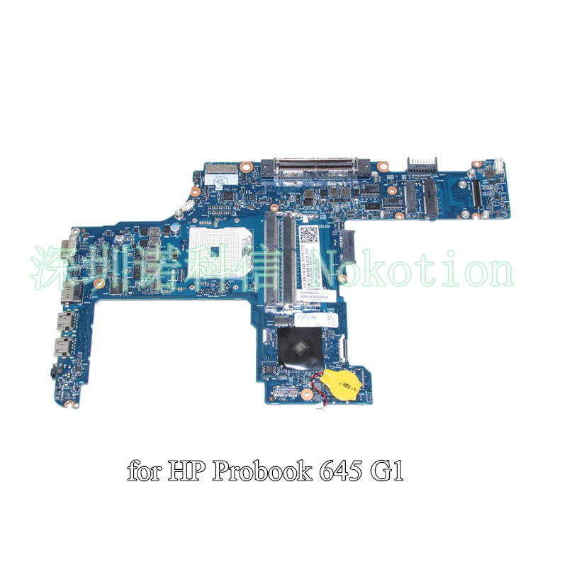 NOKOTION 746017-001 746017-501 for HP probook 645 655 G1 laptop motherboard DDR3 6050A2567101-MB-A02 744007 001 744009 001 744016 001 laptop motherboard for hp probook 650 g1 pc mainboard hm87 gm 6050a2566301 mb a03 100% tested