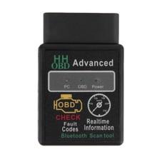 цена на Mini ELM327 V2.1 Bluetooth HH OBD Advanced OBDII ELM Auto Car Diagnostic Scanner Code Reader Scan Tool Hot Selling Car-styling