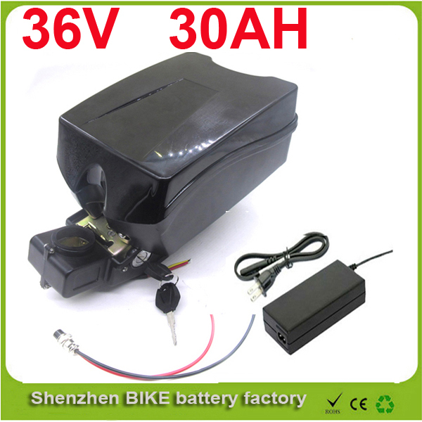 electric bike 36V 30Ah battery with 42V 2A charger 36v 30a electric bicycle li-ion battery 36v lithium battery with F rog case 30a 3s polymer lithium battery cell charger protection board pcb 18650 li ion lithium battery charging module 12 8 16v