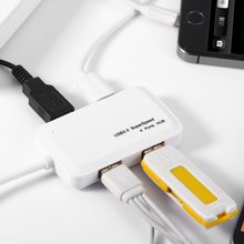 Hot sale 4 Ports USB 3.0 Multipurpose Hub 5Gbps High Speed Data Transferring Wire Cable Adapter for Cellphone Computer Camera