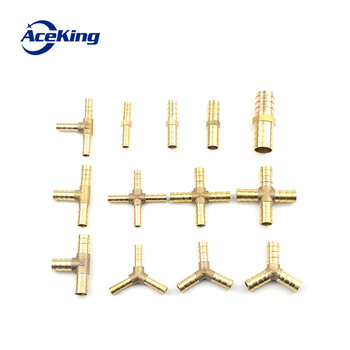 цена на All copper pagoda joint y-type gas pipe three-way gas pipe straight hose joint fitting t-type three-way four-way joint gree head