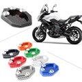 CNC Motorrad Kick Fuß Seite Stehen Verlängerung Pad Unterstützung Platte für Kawasaki VERSYS 650 2010-2014 & KLX250 2009-2014