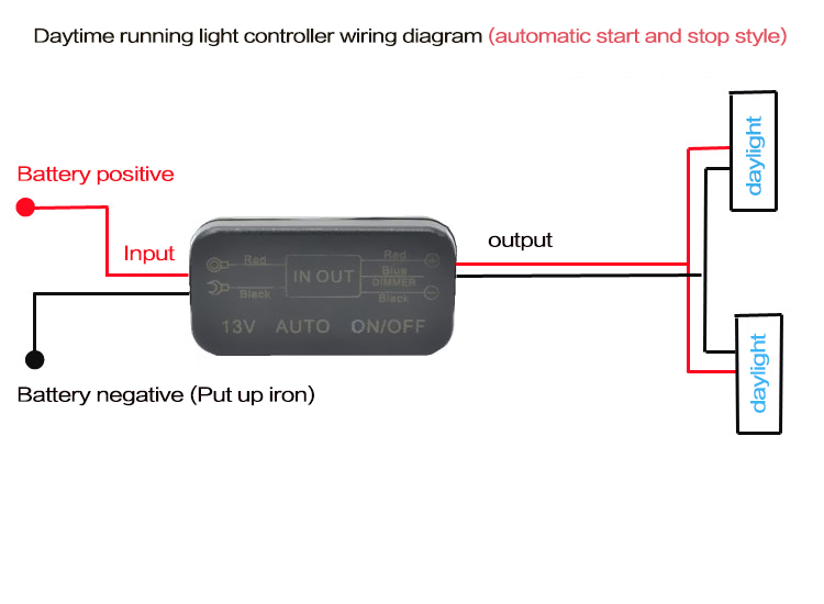 led daytime running light controller, does not damage the original car  line, no need to change any line, reduce the trouble of finding acc line  wiring,