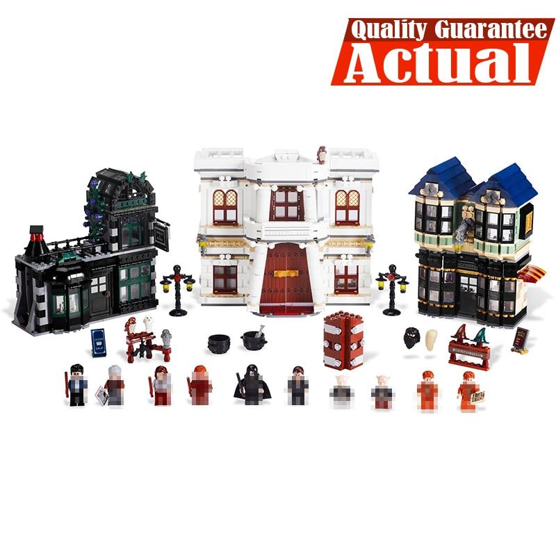 Lepin 16012 2025pcs Movie Series Harry The Diagonal Alley Set  legoINGly10217 Building Blocks Bricks Figures Educational Toys