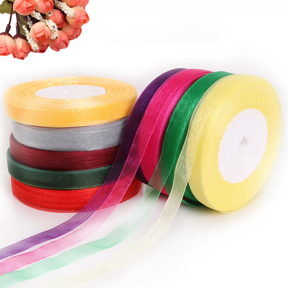 15mm x 25m gingham ribbon you choose colour!