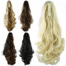 Elegant Long Wave Claw ponytail Clip in Pony tail Curly Hair Extension 2015 Party Style Multi Colors Free Shipping