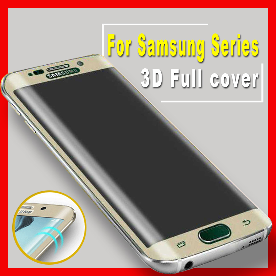 S8 pluss glass tremp deksel på For Samsung Galaxy s8 pluss S6 S7 Edge Herdet glass S 8 S 6 S 7 Edge Beskyttelsesfilm S8 + Etui
