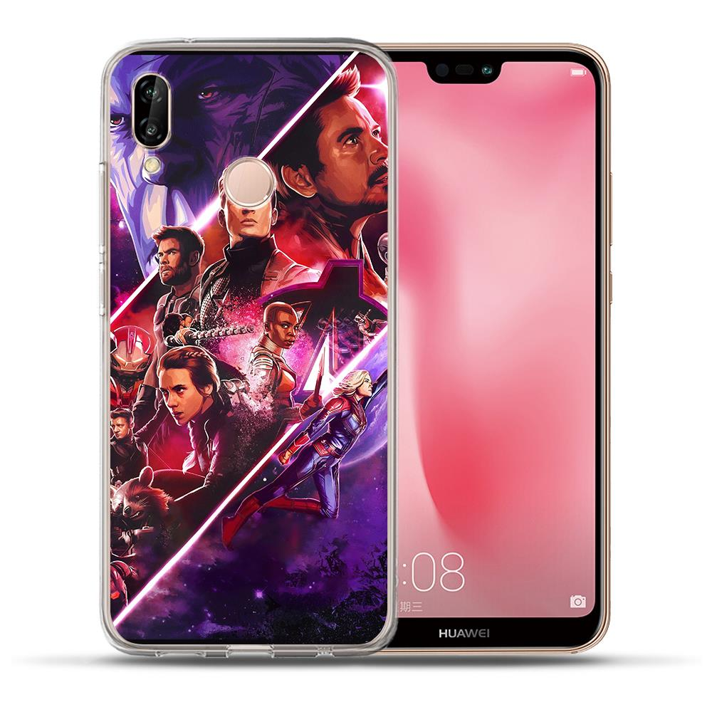 Marvel Avengers Endgame Iron Man Phone Case For Huawei P30 P20 Lite Pro P10 Lite P8 P9 Lite 2017 PSmart case Cover Etui Coque in Fitted Cases from Cellphones Telecommunications