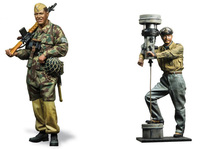 1/16 U boat captain AND German soldier 120mm INCLUDE 2 toy Resin Model Miniature resin figure Unassembly Unpainted