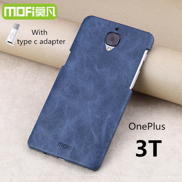 sports shoes f6ee7 04956 US $9.99 |Oneplus 3T case oneplus 3T cover MOFi original oneplus 3 A3010  accessories leather case back cover hard capa cuque funda 5.5