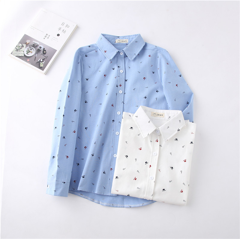 a4da0f0fb98 spring elegant women cotton linen TOPS hats dot printed adjust waist solid  shirt pleated women long blouses white OL tops-in Blouses   Shirts from  Women s ...