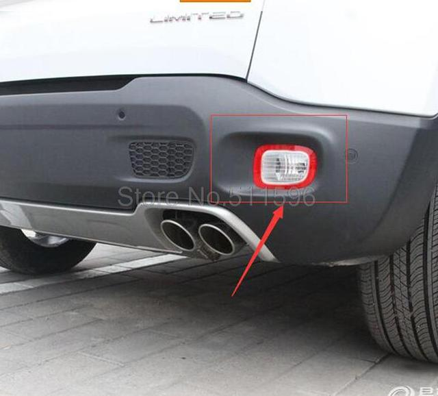 Jeep Renegade Light Covers >> For Jeep Renegade 2015 2016 ABS Chrome Rear Fog Light Lamp Cover Trim Frame Trims Backup Fog ...