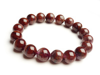 Genuine Natural Purple Red Cacoxenite Auralite 23 Crystal Round Beads Stretch Charm Bracelets For Women 11mm
