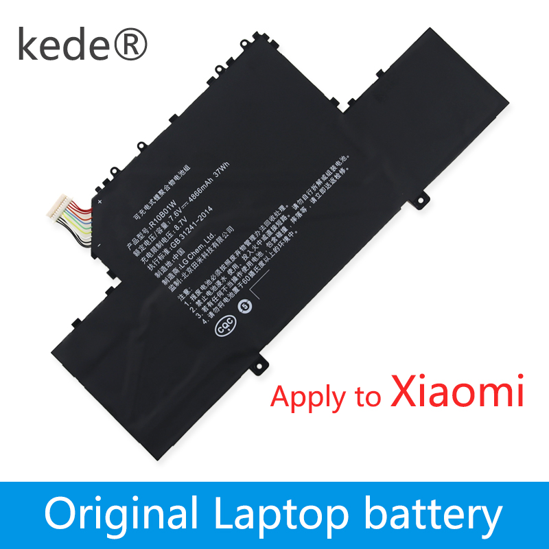 Kede 7.6V 38wh Original R10B01W Laptop Battery For Xiaomi Ml Air 12.5/in R10B01W Tablet