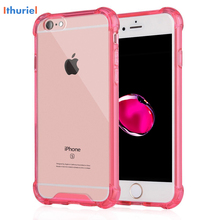 ithurile For iPhone 6  6s plus Case,New For iPhone 7 7 plus Cover Case with Transparent Hard Plastic Back Plate and Soft TPU Gel стоимость