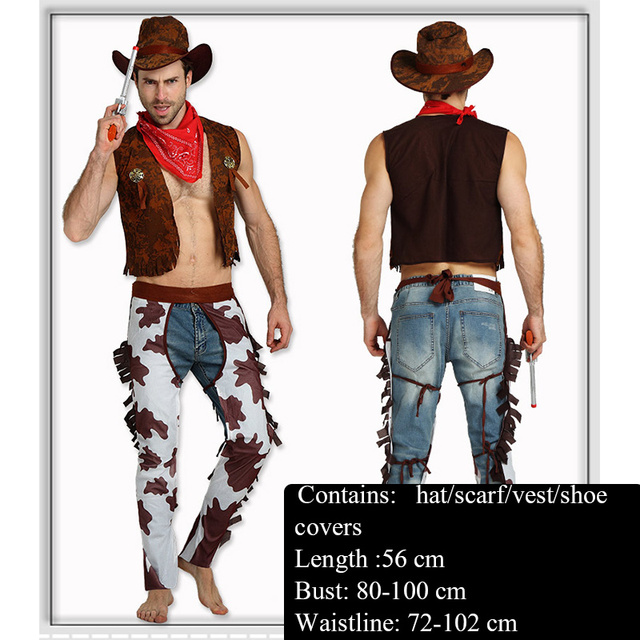 Halloween Costume Adult Western Cowboy Costume Children Cowboy Sexy Cowboy  Costume Cowboy Boots.