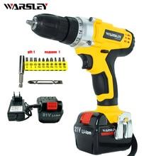 21v electric screwdriver battery Cordless electric Drill power tools Mini Drill concrete torque drill screwdriver reversible