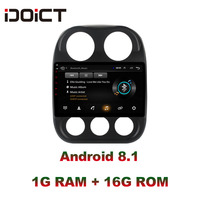 IDOICT Android 8.1 Car DVD Player GPS Navigation Multimedia For JEEP Compass Patriot Radio 2009 2016 car stereo wifi