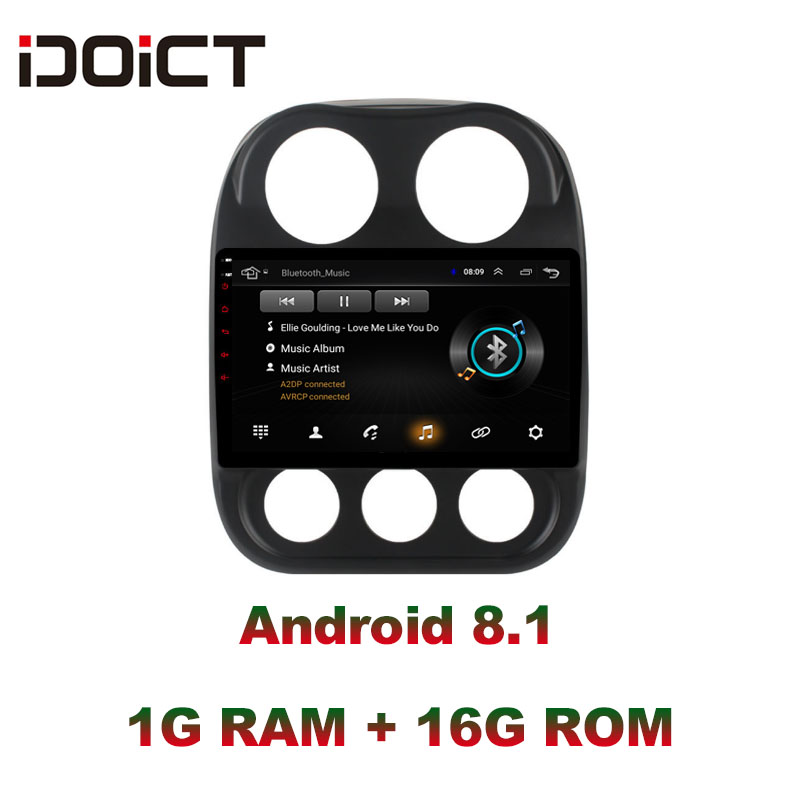 IDOICT Android 8.1 Car DVD Player GPS Navigation Multimedia For <font><b>JEEP</b></font> <font><b>Compass</b></font> Patriot Radio 2009-2016 car stereo wifi DSP image