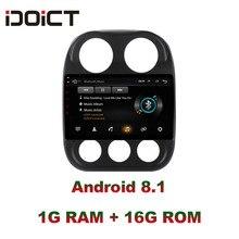 IDOICT Android 8.1 Car DVD Player GPS Radio Multimediale di Navigazione Per JEEP Compass Patriot 2009-2016 car stereo wifi