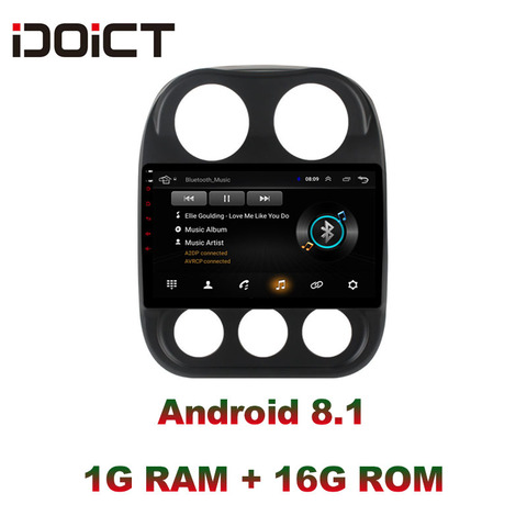 idoict android 8 1 car dvd player gps de navegacao multimidia para jeep compass patriot