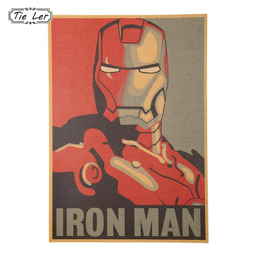 Avatar 2 Poster: 1 PCS Retro Style Comic Iron Man Avatar Poster Decorative