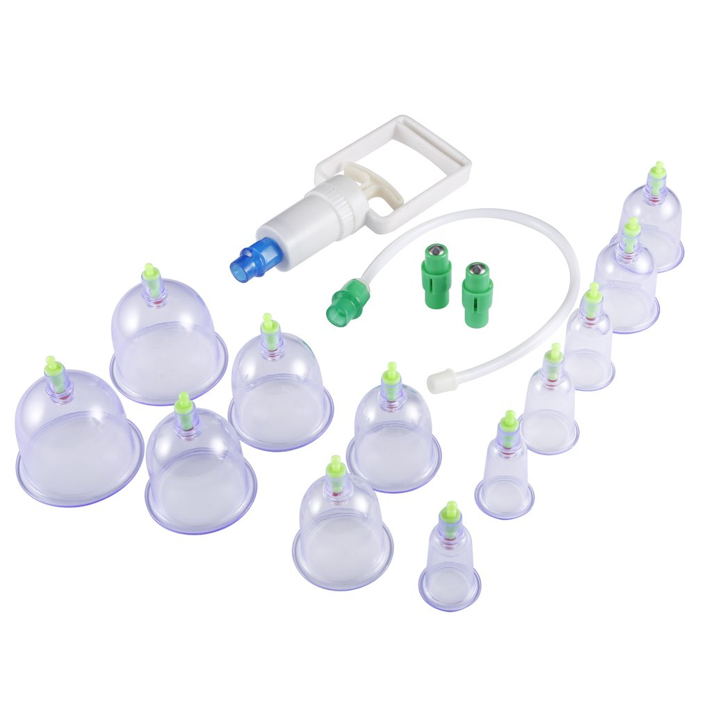 12 Cupping Therapy Cups Effective Healthy Chinese Medical Vacuum Cupping Suction Therapy Device Body Massager Set 12pcs set chinese medical vacuum body massager magnetic acupunture vacuum cupping portable massage therapy tens hijama cupping