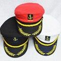 Adultos e crianças de 2017 vintage marca new homens mulheres planas bonés militares uniforme capitão skipper marinheiro da marinha caps ajustáveis chapéus