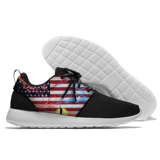 013439ef4f81 Classic Amateur Sport Shoes USA Flag Sneaker Lightweight American Patriot  Running Shoes For Mens And Womens