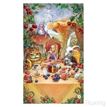diamond painting ,Girl and cartoon animated characters scenery,full square,diy,diamond mosaic paintings, embroidery