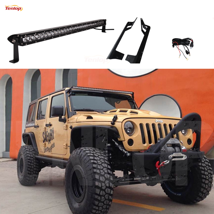 wiring harness jeep promotion shop for promotional wiring harness 51 inch single row 250w light bar kit a pillar bracket wire harness fuse and switch for wrangler 07 15