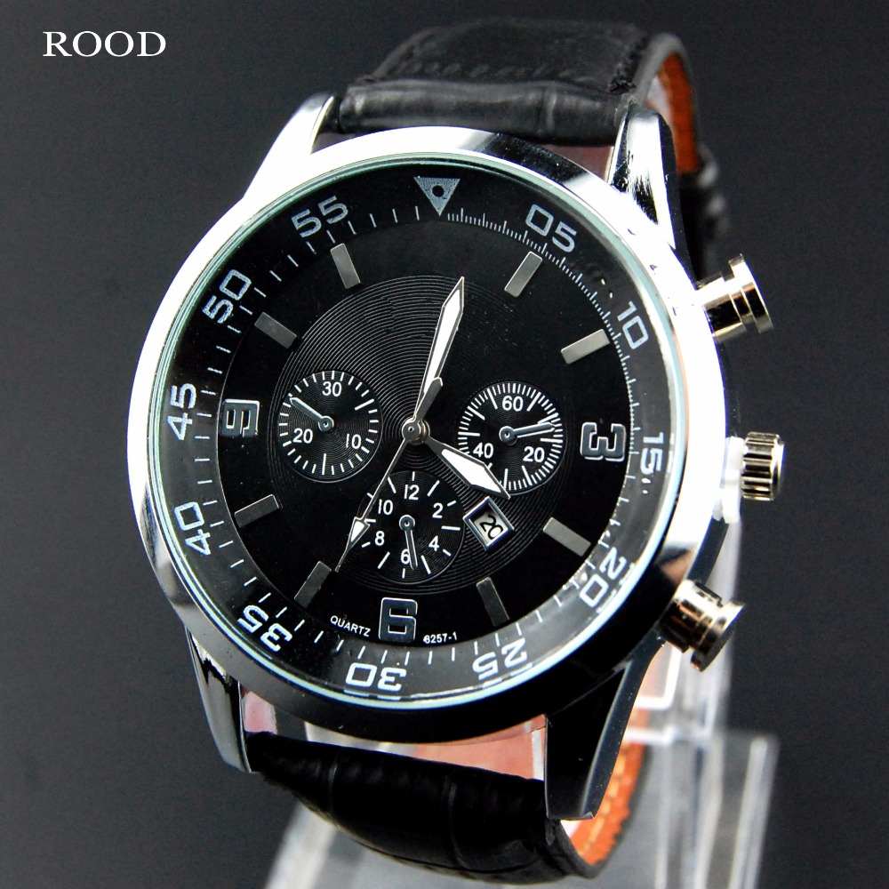 Leather Male Clock Watches Men...
